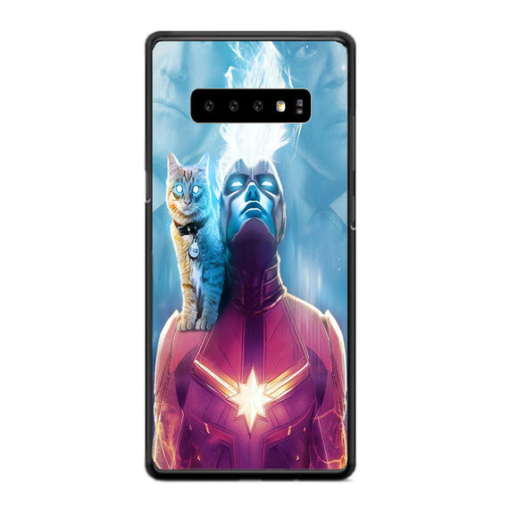 Captain Marvel Goose The Cat Samsung Galaxy S10 Plus Case | Babycasee