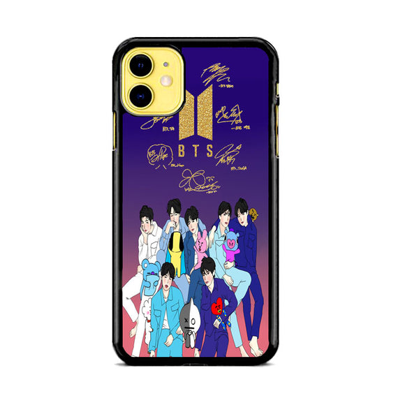 Bts X Bt21 Minimalist Golden Signature iPhone 11 Case | Babycase