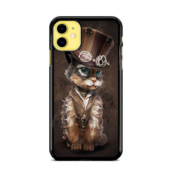 Cat Steampunk Art iPhone 11 Case | Babycase