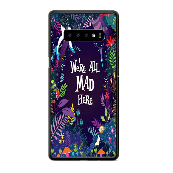 Alice We'Re All Mad Here Samsung Galaxy S10 Case | Babycase