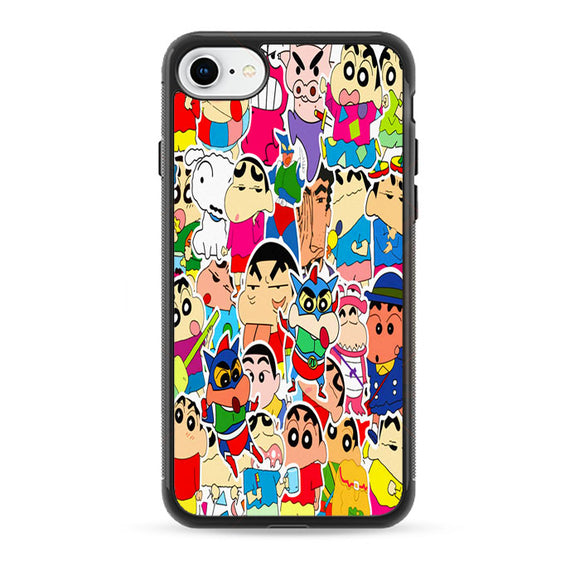 Cute Crayon Shin Chan Collage iPhone 8 Case | Babycase