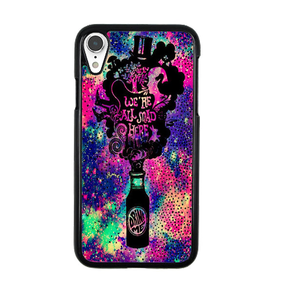 We'Re All Mad Here Drink Me Glitter Sparkle Galaxy iPhone XR Case | Babycase