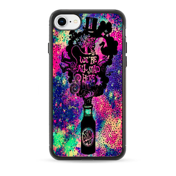 We'Re All Mad Here Drink Me Glitter Sparkle Galaxy iPhone 8 Case | Babycase