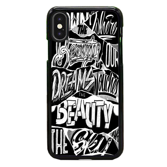 The Amity Affliction H.M.A.S Look Back Lyrics iPhone XS Max Case | Babycase