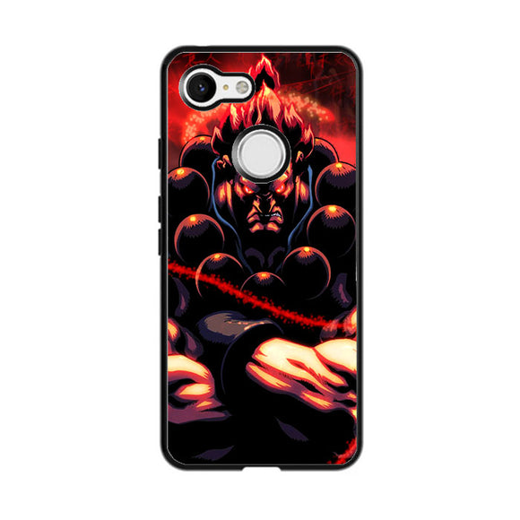 Akuma Street Fighter Red Energy Google Pixel 3 Case | Babycasee