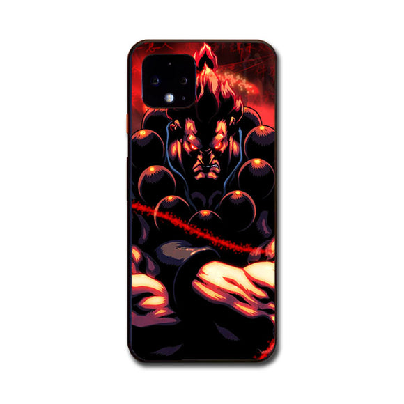 Akuma Street Fighter Red Energy Google Pixel 4 Case | Babycasee