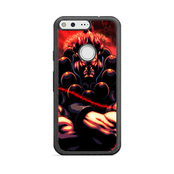 Akuma Street Fighter Red Energy Google Pixel Case | Babycasee