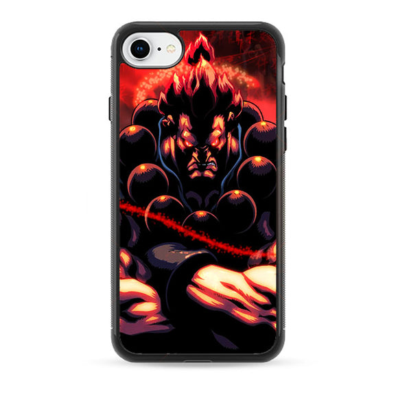 Akuma Street Fighter Red Energy iPhone 8 Case | Babycasee
