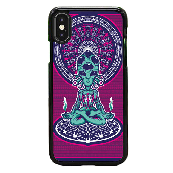 Alien Exist Meditation iPhone XS Case | Babycasee