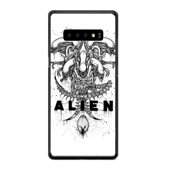 Alien Pointilsm Style Samsung Galaxy S10 Plus Case | Babycasee