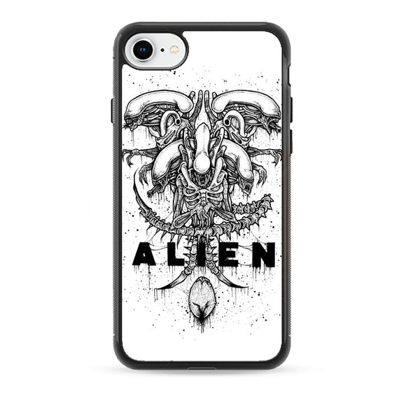 Alien Pointilsm Style iPhone 7 Case | Babycasee