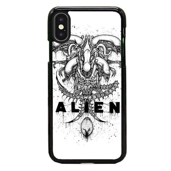 Alien Pointilsm Style iPhone XS Case | Babycasee