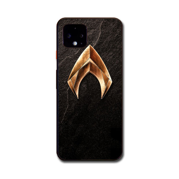 Aquaman Gold Logo On Rock Google Pixel 4 XL Case | Babycasee