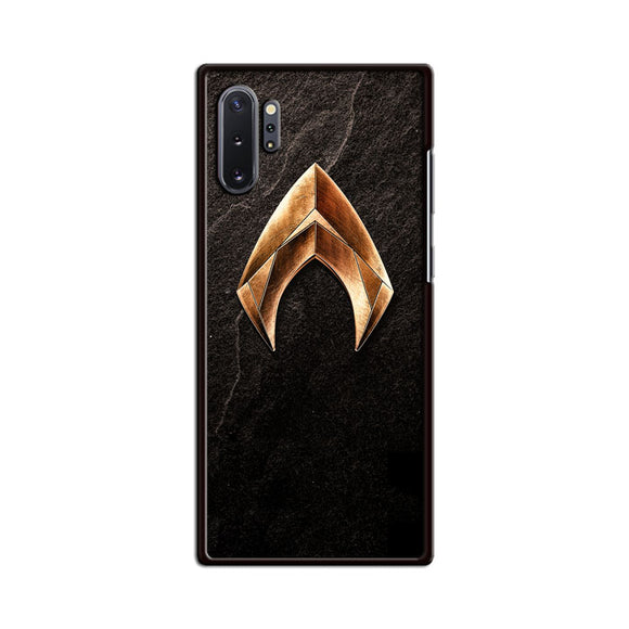 Aquaman Gold Logo On Rock Samsung Galaxy Note 10 Plus Case | Babycasee