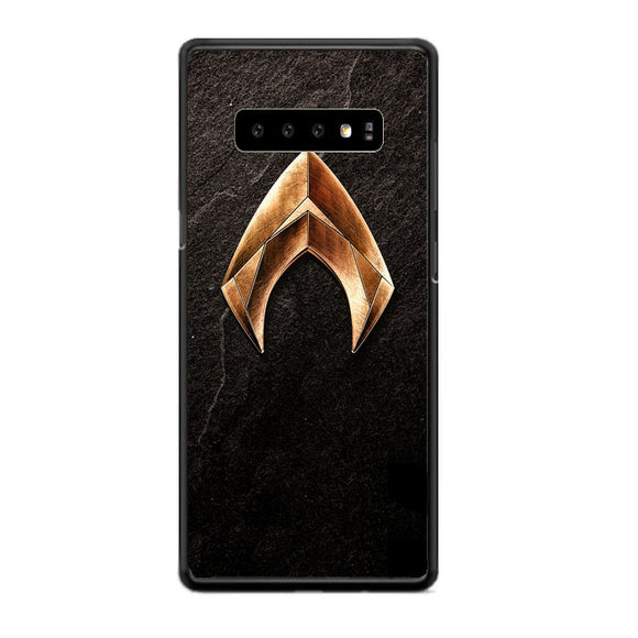 Aquaman Gold Logo On Rock Samsung Galaxy S10 Plus Case | Babycasee