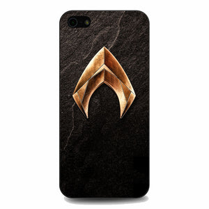 Aquaman Gold Logo On Rock iPhone 5|5S|SE Case | Babycasee