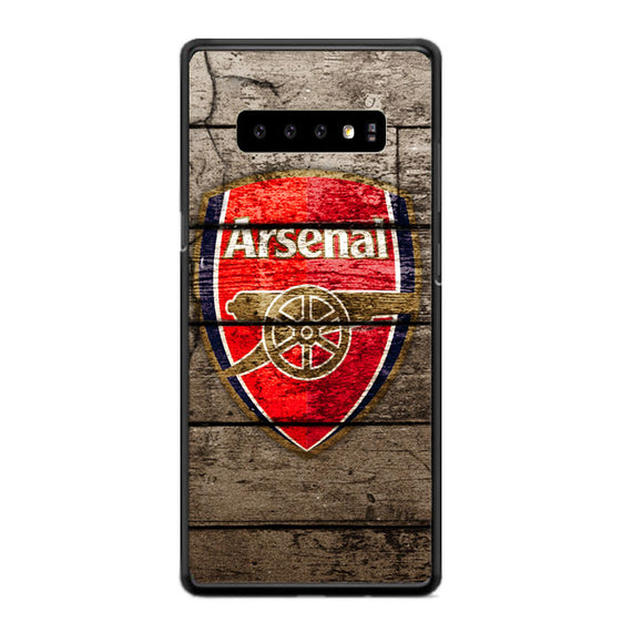 Arsenal With Wood Texture Samsung Galaxy S10 Case | Babycasee