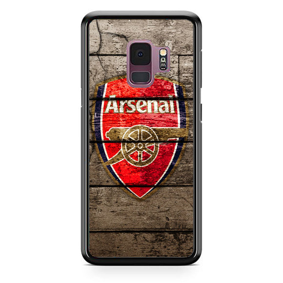 Arsenal With Wood Texture Samsung Galaxy S9 Case | Babycasee