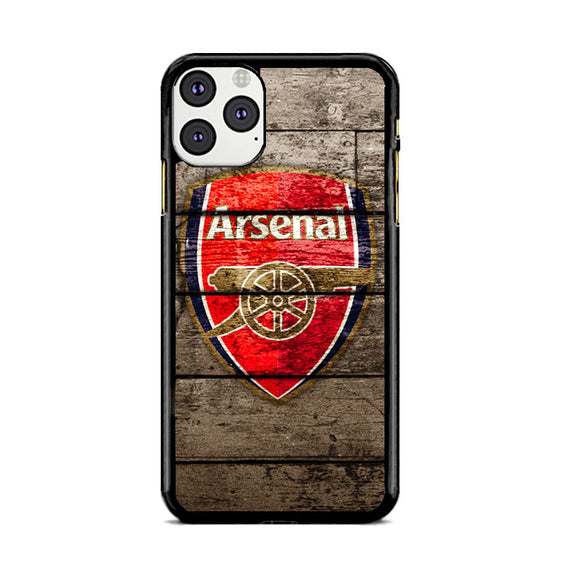 Arsenal With Wood Texture iPhone 11 Pro Max | Babycasee