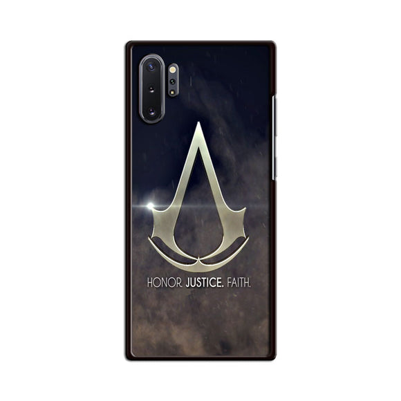 Assasin Creed Honor Justice Faith Samsung Galaxy Note 10 Plus Case | Babycasee