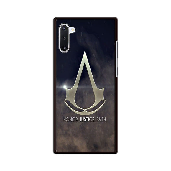 Assasin Creed Honor Justice Faith Samsung Galaxy Note 10 Case | Babycasee