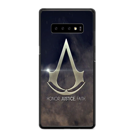 Assasin Creed Honor Justice Faith Samsung Galaxy S10 Case | Babycasee