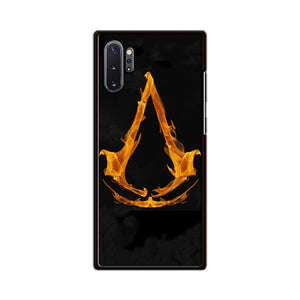 Assasin Creed On Fire Logo Samsung Galaxy Note 10 Plus Case | Babycasee