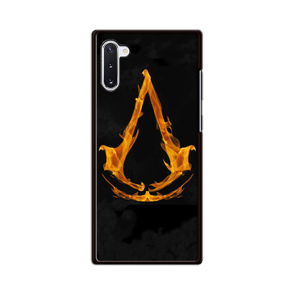 Assasin Creed On Fire Logo Samsung Galaxy Note 10 Case | Babycasee