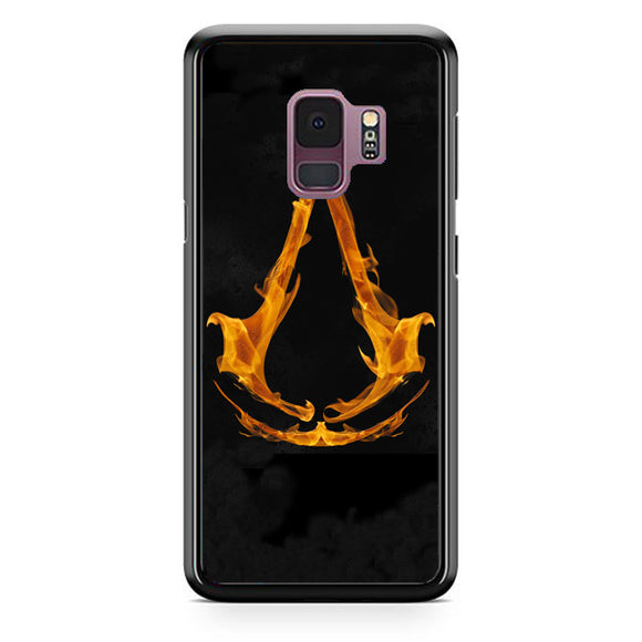 Assasin Creed On Fire Logo Samsung Galaxy S9 Case | Babycasee