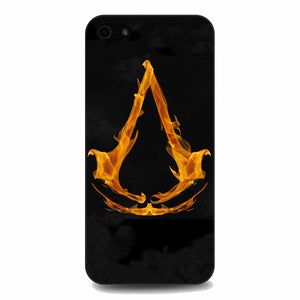 Assasin Creed On Fire Logo iPhone 5|5S|SE Case | Babycasee