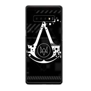 Assasin Creed X Watchdogs Samsung Galaxy S10 Case | Babycasee