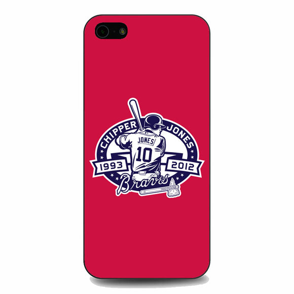 Atlanta Braves Basball Club Red iPhone 5|5S|SE Case | Babycasee
