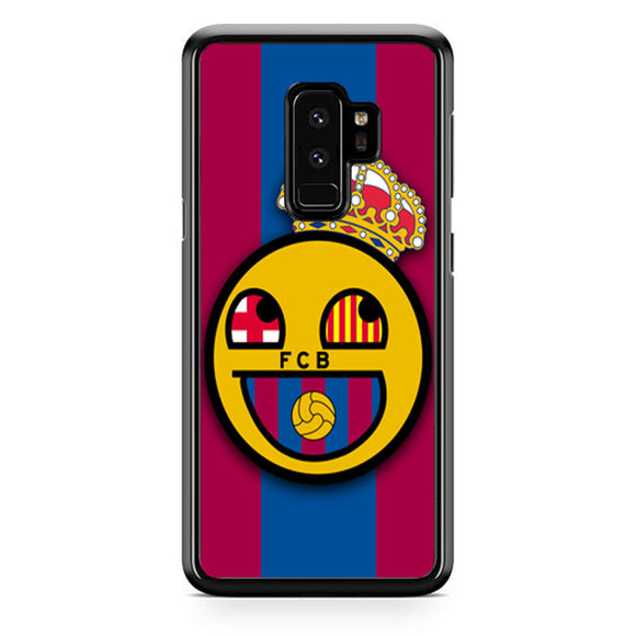 Barcelona Fc Emoticon Samsung Galaxy S9 Plus| Babycasee