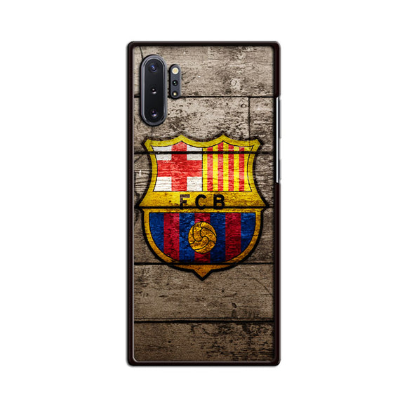 Barcelona Fc Wood Texture Samsung Galaxy Note 10 Plus Case | Babycasee