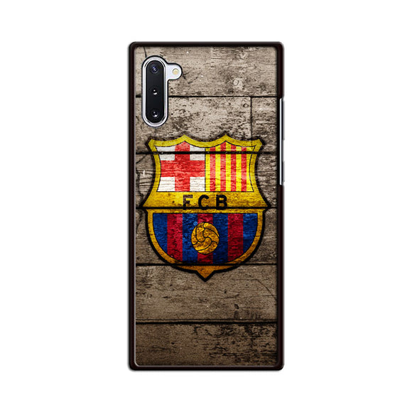 Barcelona Fc Wood Texture Samsung Galaxy Note 10 Case | Babycasee