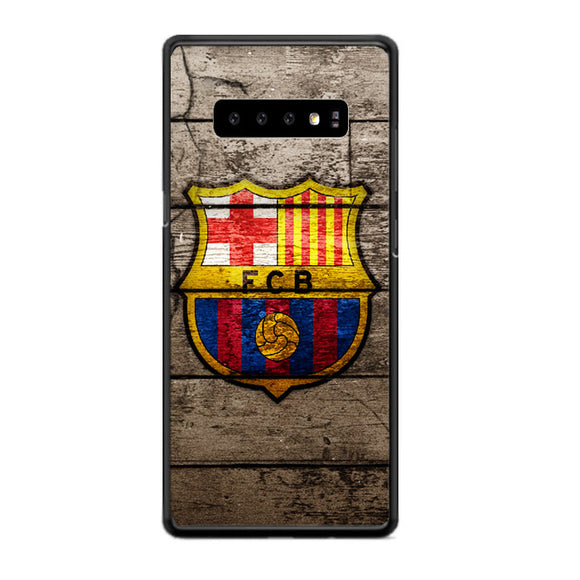Barcelona Fc Wood Texture Samsung Galaxy S10 Plus Case | Babycasee