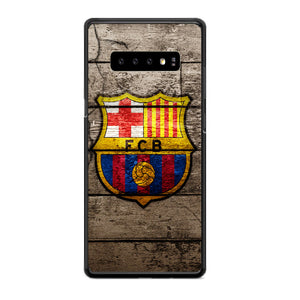 Barcelona Fc Wood Texture Samsung Galaxy S10e Case | Babycasee