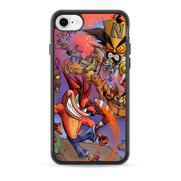 Crash Bandicoot And Doctor N iPhone 8 Case | Babycase