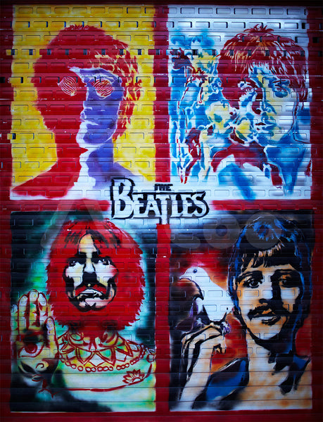 莫斯科街頭的披頭四  The Beatles Graffiti Wall in Moscow