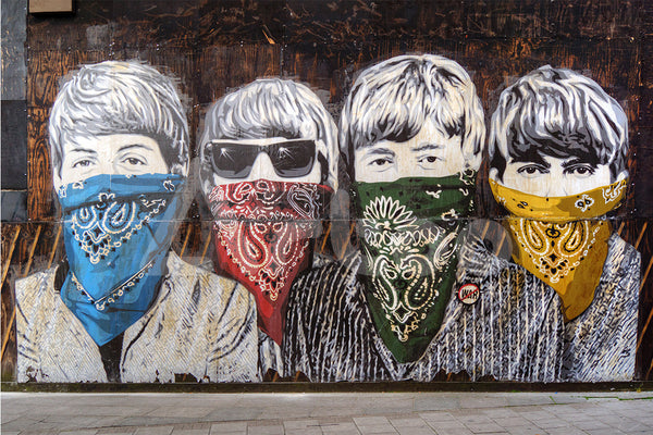 披頭四  Beatles Graffiti on Wall