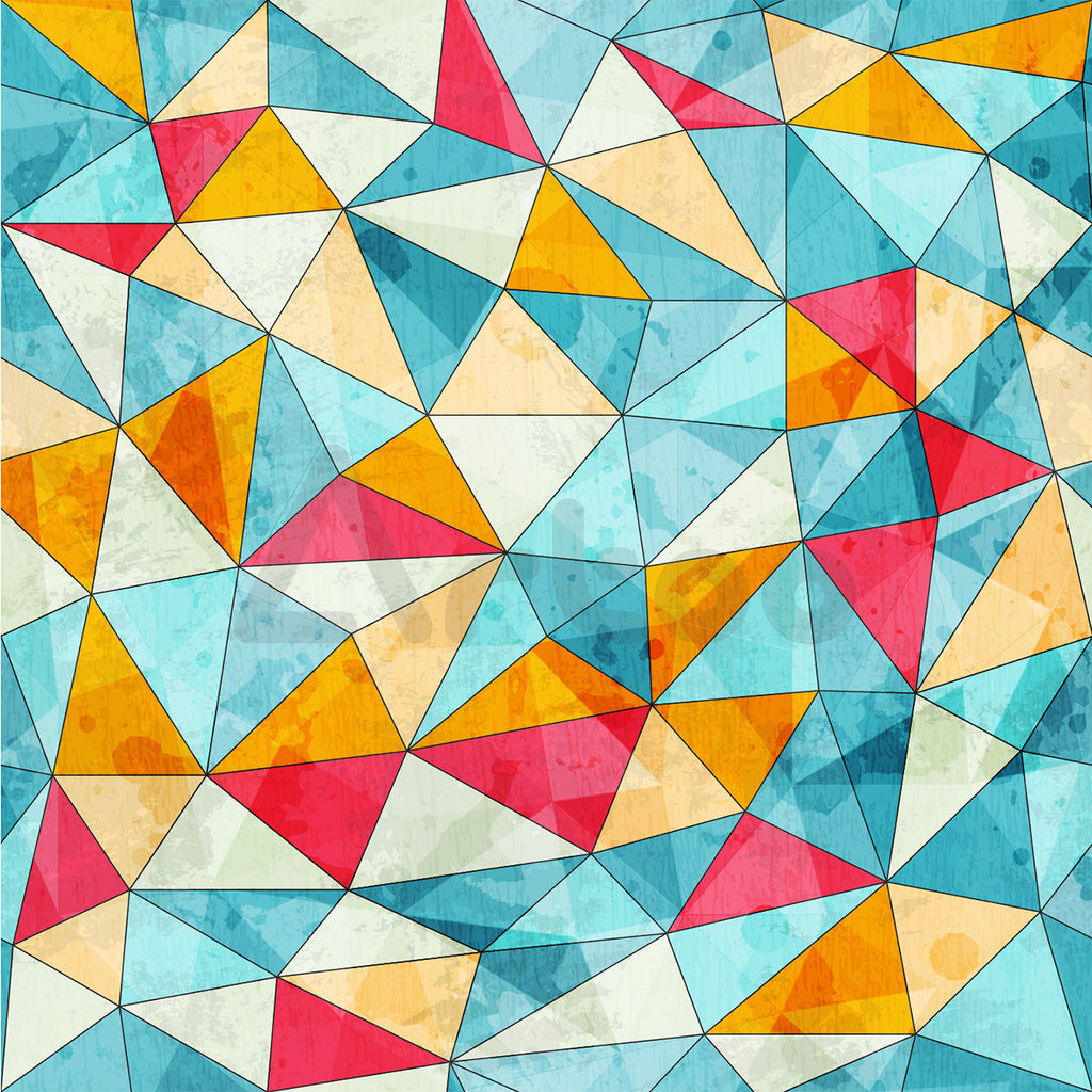 三角  Vintage colored triangles seamless pattern