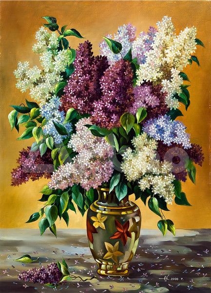 紫丁香  Lilac bouquet in a vase