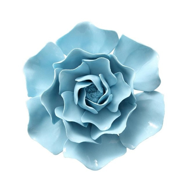 Ceramic Flower Wall Decoration Creative Living Room Bedroom Wall Decoration Background Stereo Wall Decoration