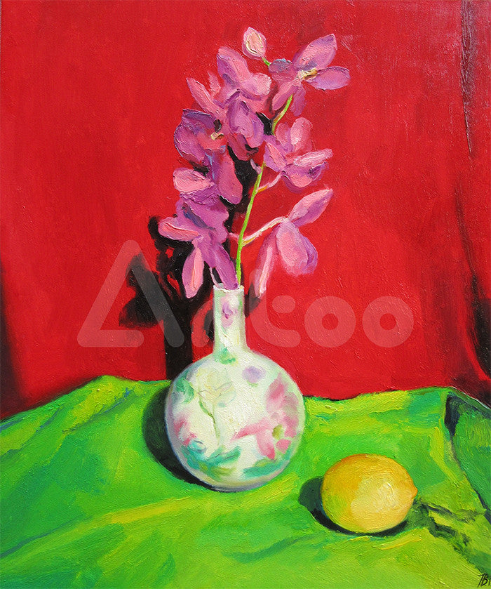 中國花瓶 Still life with Chinese vase