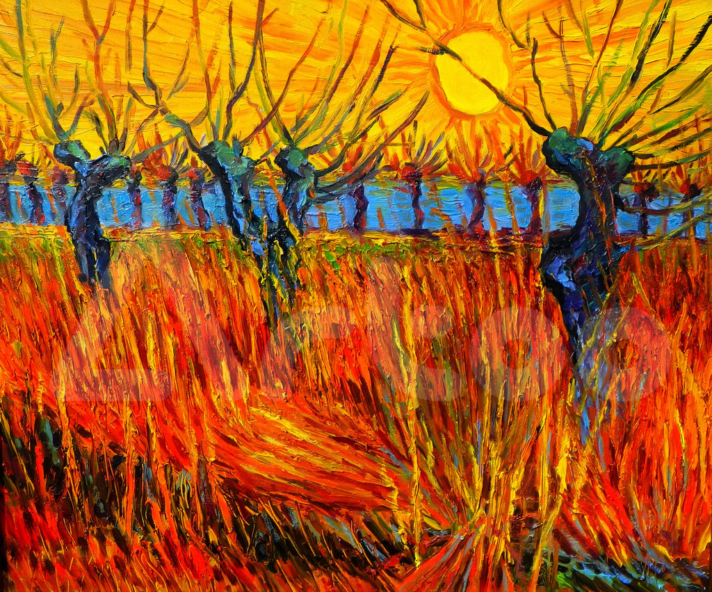 V.v.Gogh- Willows at sunset (So copy)