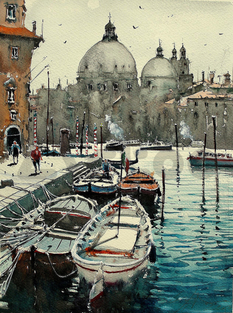 維納斯2 Mooning boats in venice II