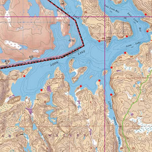 Map 14 - Loon, Wilkins Lakes and Little Indian Sioux River