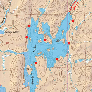 Map 21 - Sawbill, Brule and Pipe Lakes Map Of Bwca Lakes on map of mn lakes, map of ely lakes, map of minnesota lakes, map of eastern united states lakes, map of gunflint trail lakes,