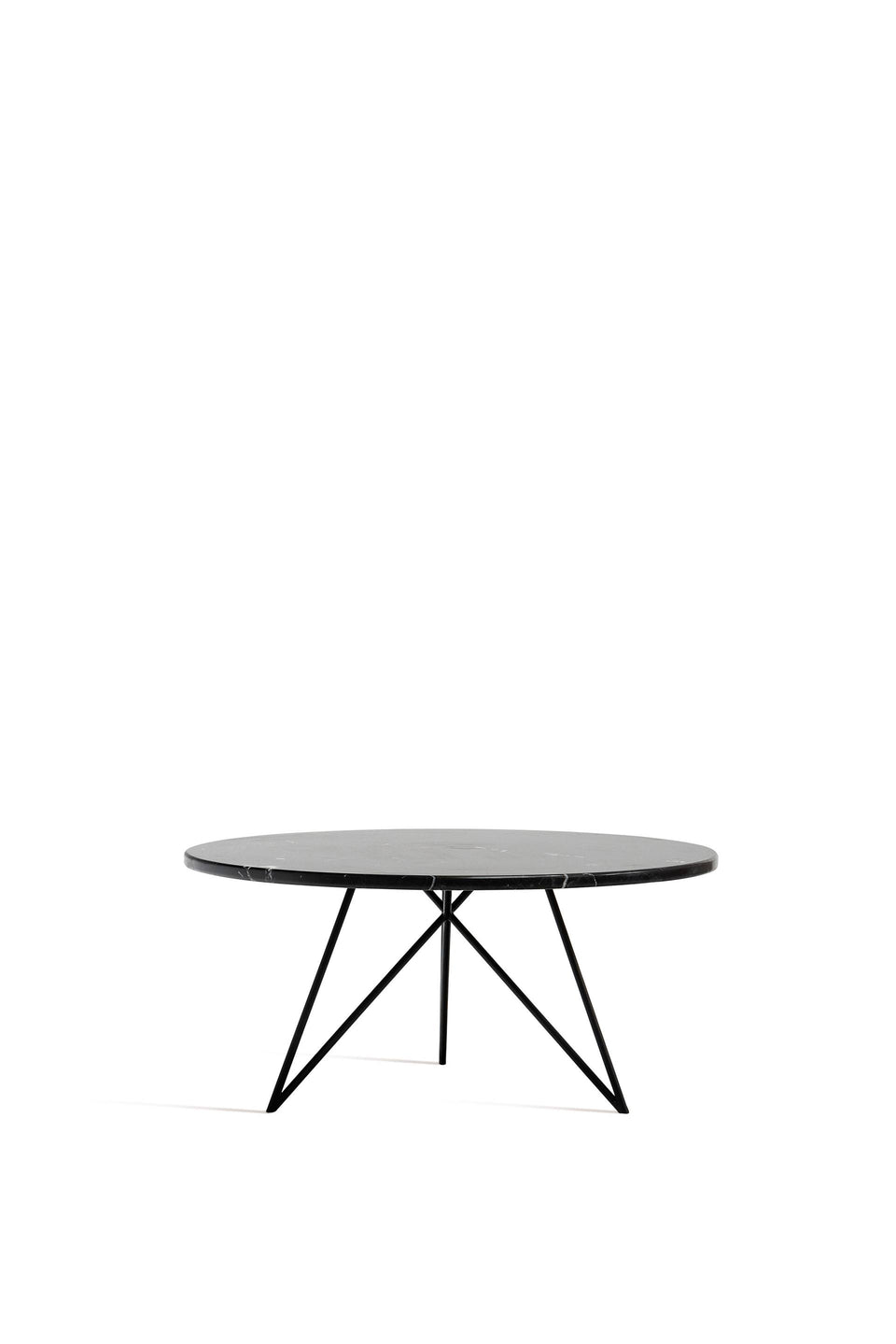 COFFEE TABLE, ROUND, LARGE BLACK