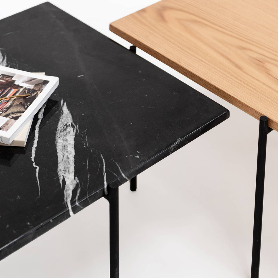 Marble Coffee Table - Black, Marble Top